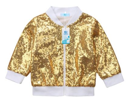 Gold sequin jacket (with lining)