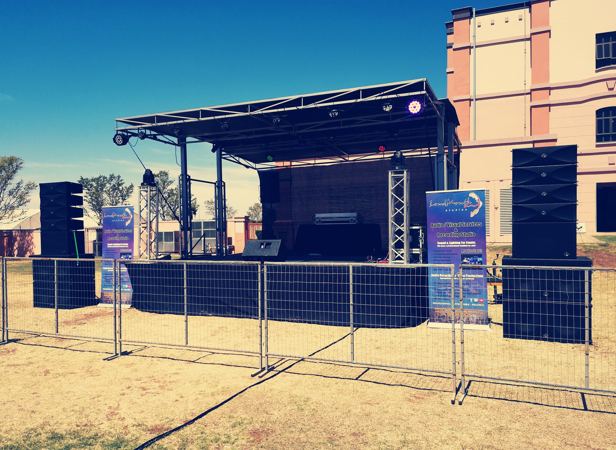 Our portable stage and WLA28 line array was a massive hit at the Colour music festival!