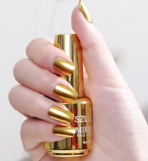 Gold Mirror Nail Polish