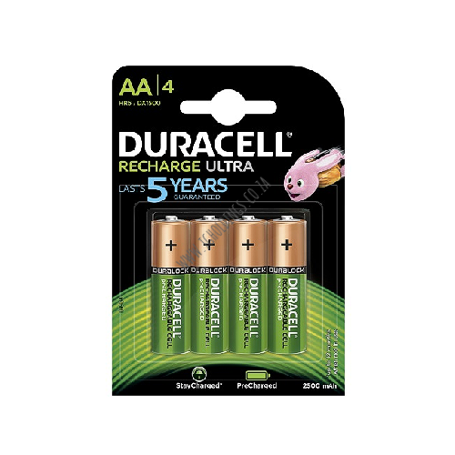 DURACELL RECHARGE ULTRA AA BATTERY 4 PACK 10  PER BOX