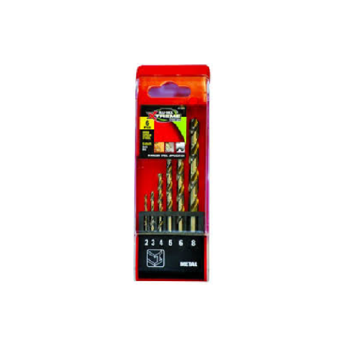 BLU-MOL X-S/ST HSS DRILL BITS SET 6PC 2-8MM