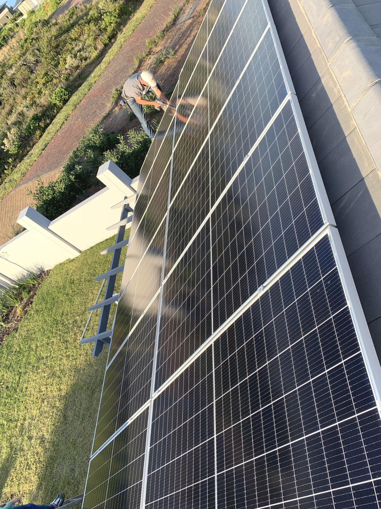 Final touches to 12 PV Panels