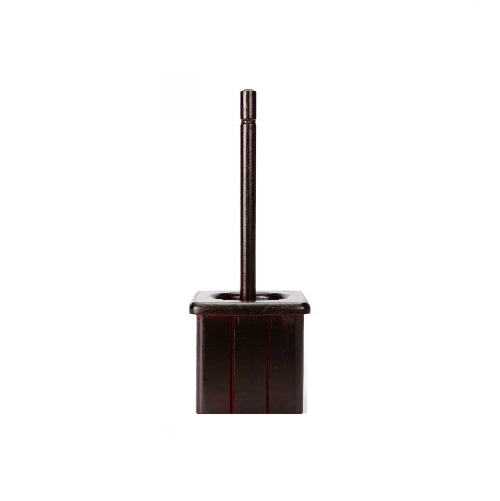 MTS HOME MAHOGANY WOODEN TOILET BRUSH AND HOLDER