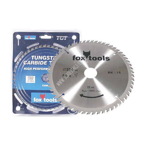 FOX ALUMINIUM TUNGSTEN CARBID TIPPED CIRCULAR SAW BLADES / DISC