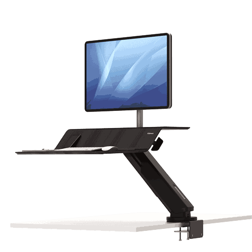 Lotus™ RT Single Sit-Stand Workstation - Black