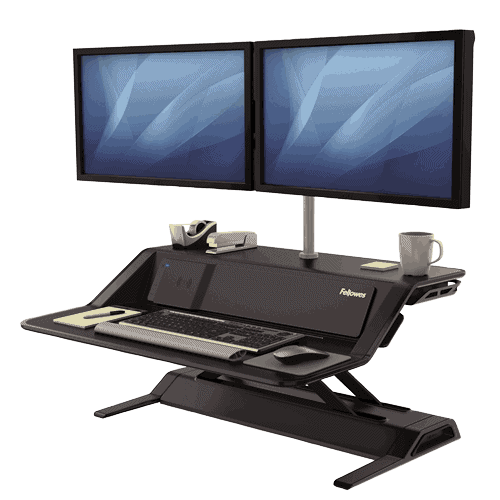 Lotus™ DX Sit-Stand Workstation – Black