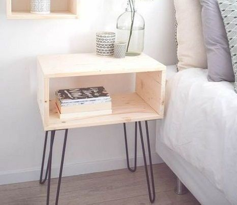 Hairpin Bedside Tables