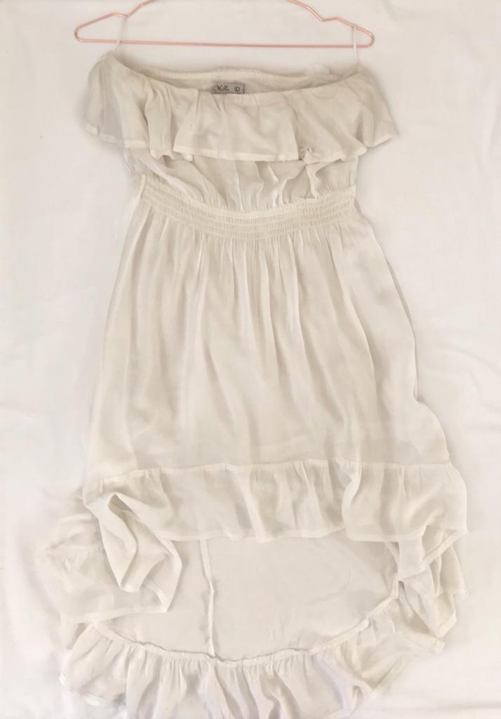 YDE White High Low  Dress