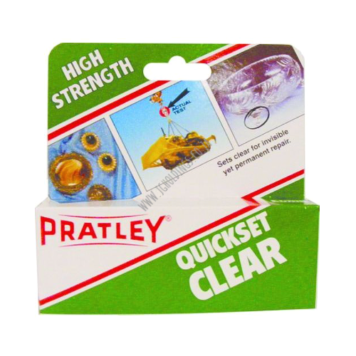 PRATLEY QUICKSET CLEAR EPOXY GLUE
