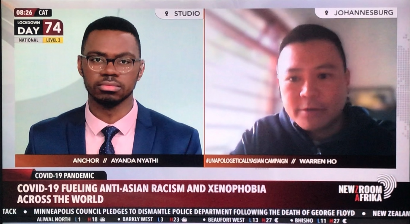 NewzRoom Africa Interview #UnapologeticallyAsian #ProudlySouthAfrican Video - 8 June 2020