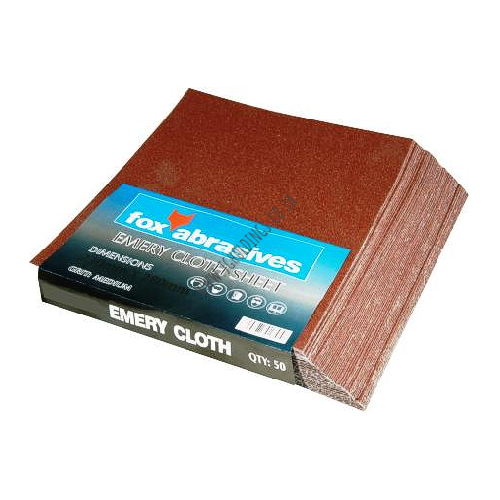 FOX ABRASIVES CLOTH SHEET 50 PACK