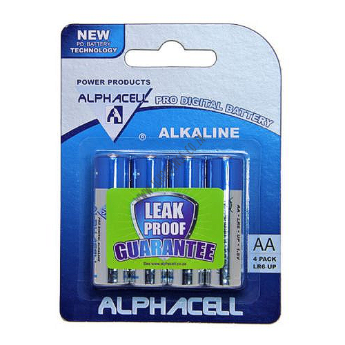 ALPHACELL AA BATTERIES 4 PACK SI/37