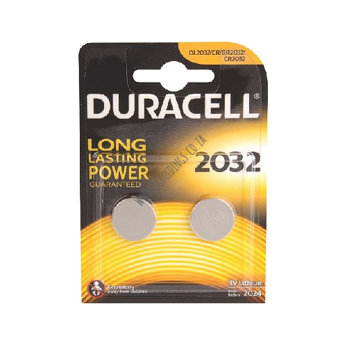 DURACELL DL2032 COIN BATTERY 2 PACK 10  PER BOX