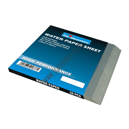 FOX ABRASIVE WATER PAPER SHEET - WET OR DRY SANDING PAPER
