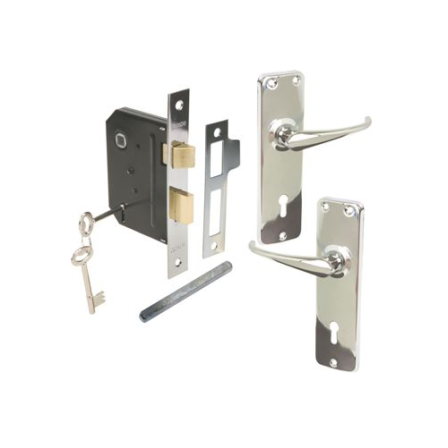 MACKIE LOCKSET MORTICE CP W/HD HNDLS
