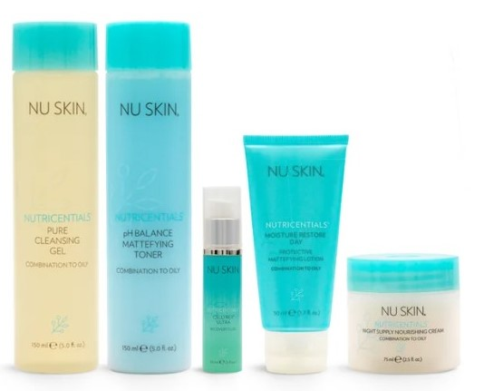 Nu Skin Nutricentials Complete Facial Kit - Combination to Oily Skin