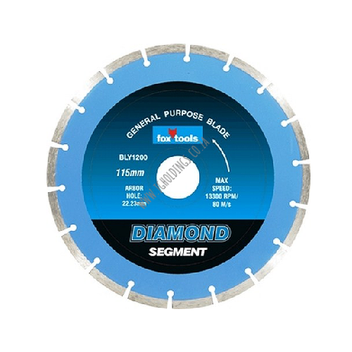 FOX DIAMOND SEGMENT CONCRETE CUTTING BLADE / DISC - MASONRY