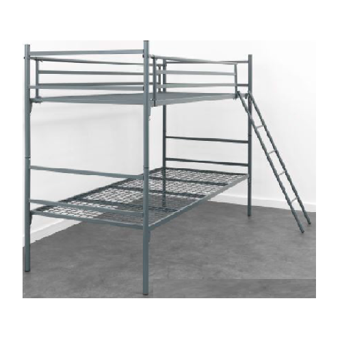 DOUBLE BUNK STEEL BED FRAME WITH LADDER
