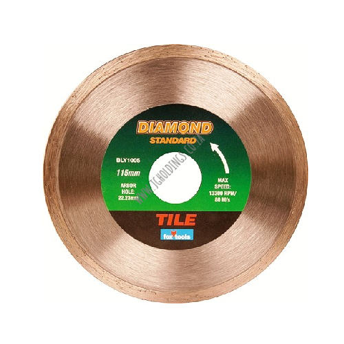 FOX DIAMOND STANDARD TILE CUTTING BLADE / DISC - WET CUTTING ONLY