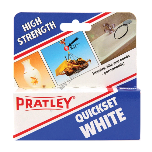 PRATLEY QUICKSET WHITE EPOXY GLUE