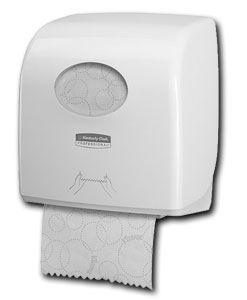 White Aquarius Slimroll Hand Paper towel Dispenser