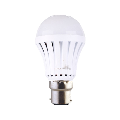 LITEMATE RECHARGABLE BAYONET LED LIGHT BULB - 5W A60 E22