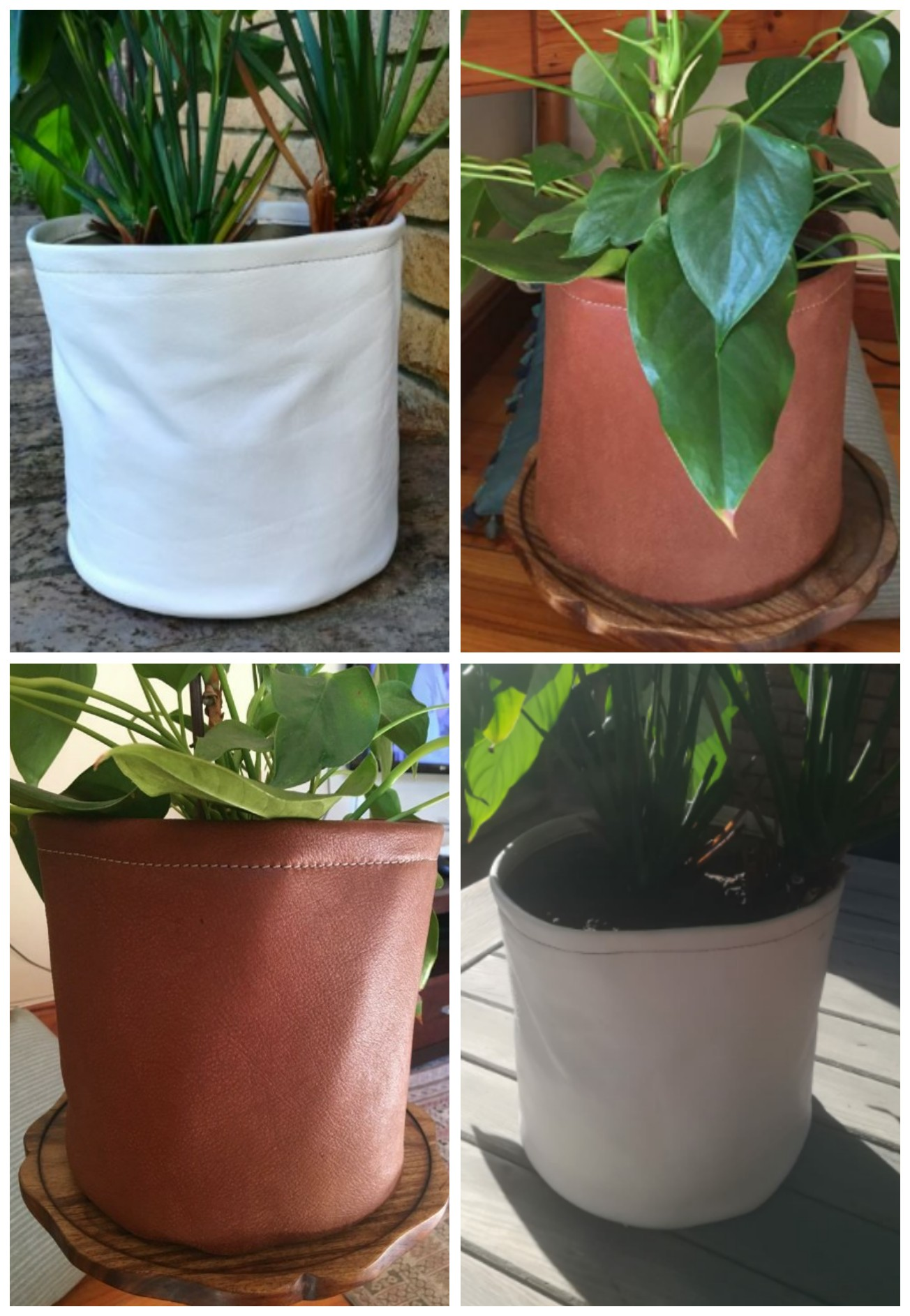 Leather Indoor Plant Pots