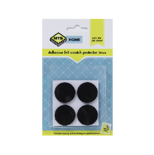 MTS HOME ADHESIVE FELT SCRATCH PROTECTOR 28MM 4 PIECE