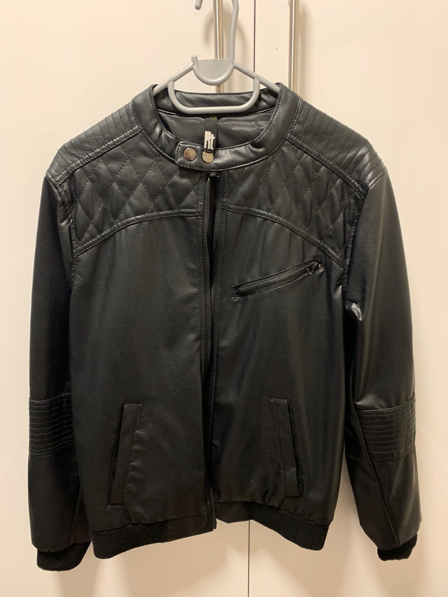 Rt synthetic leather jacket