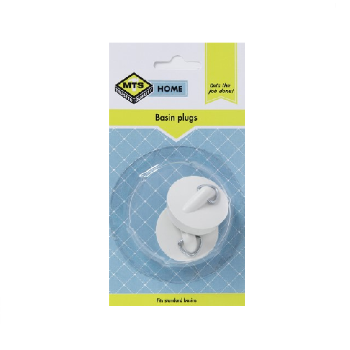 MTS HOME RUBBER WHITE BASIN PLUG 2 PIECE