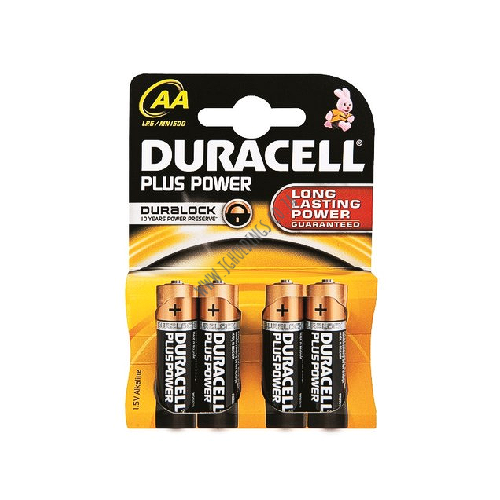 DURACELL PLUS POWER AA BATTERY 4 PACK 20  PER BOX