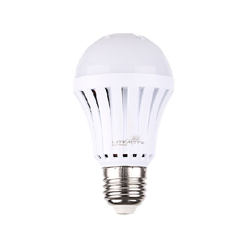 LITEMATE RECHARGABLE SCREW IN LED LIGHT BULB - 5W A60 E27