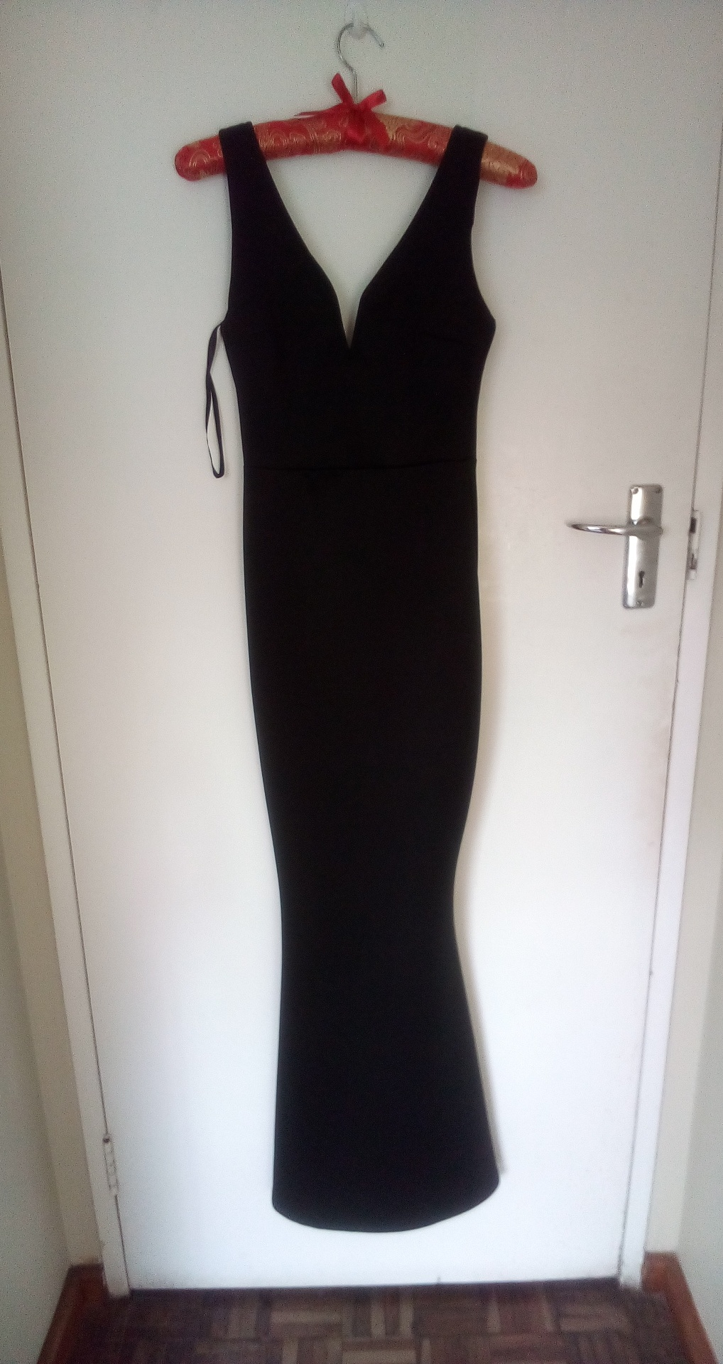 Black formal evening dress