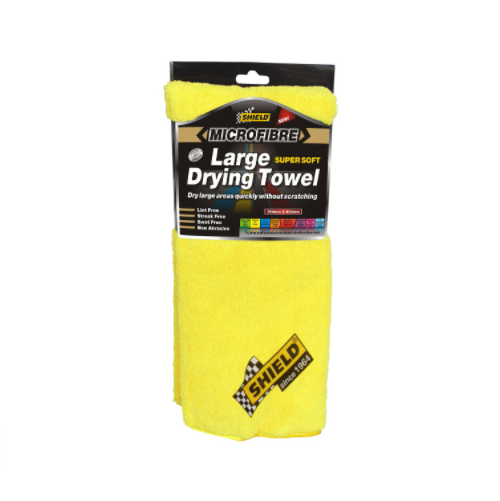 SHIELD MICROFIBRE LARGE DRYING TOWEL YELLOW SH457