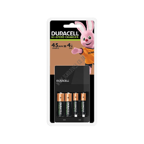 DURACELL HI-SPEED CHARGER CHR45MIN AA + AAA BATTERY 2 PACK 3 PER BOX