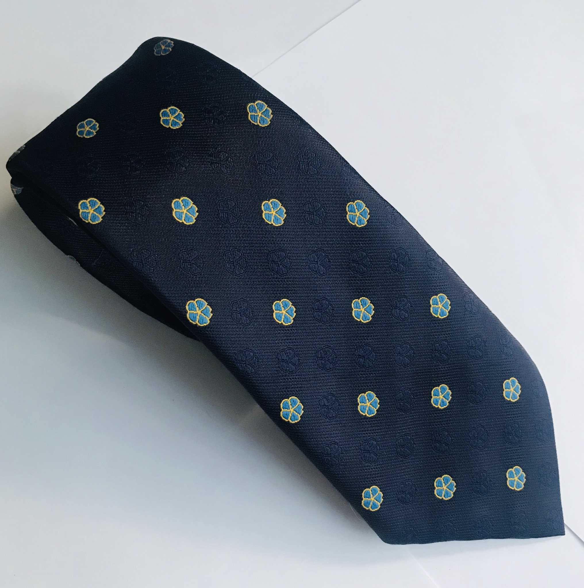 Forget Me Not Silk Tie