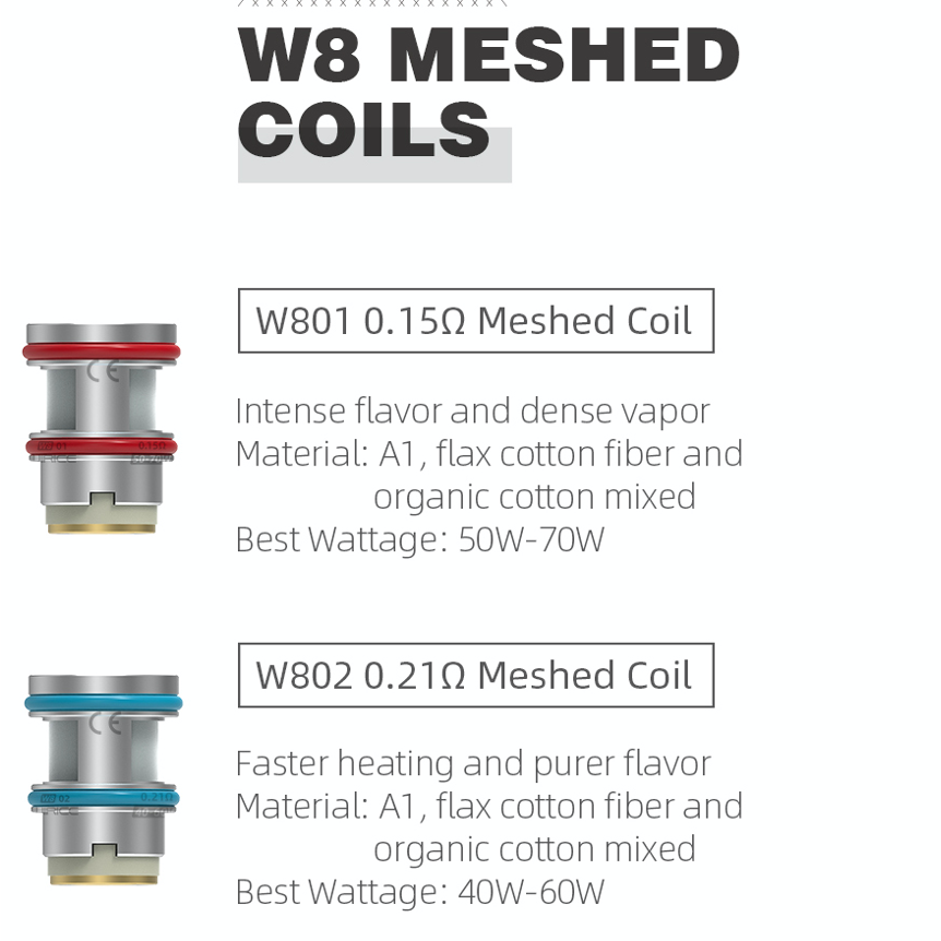 Wirice (Hellvape) Launcher sub-ohm tank Coils