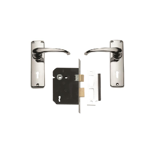 UNION CHROME PLATED LOCKSET SABS-BOXED