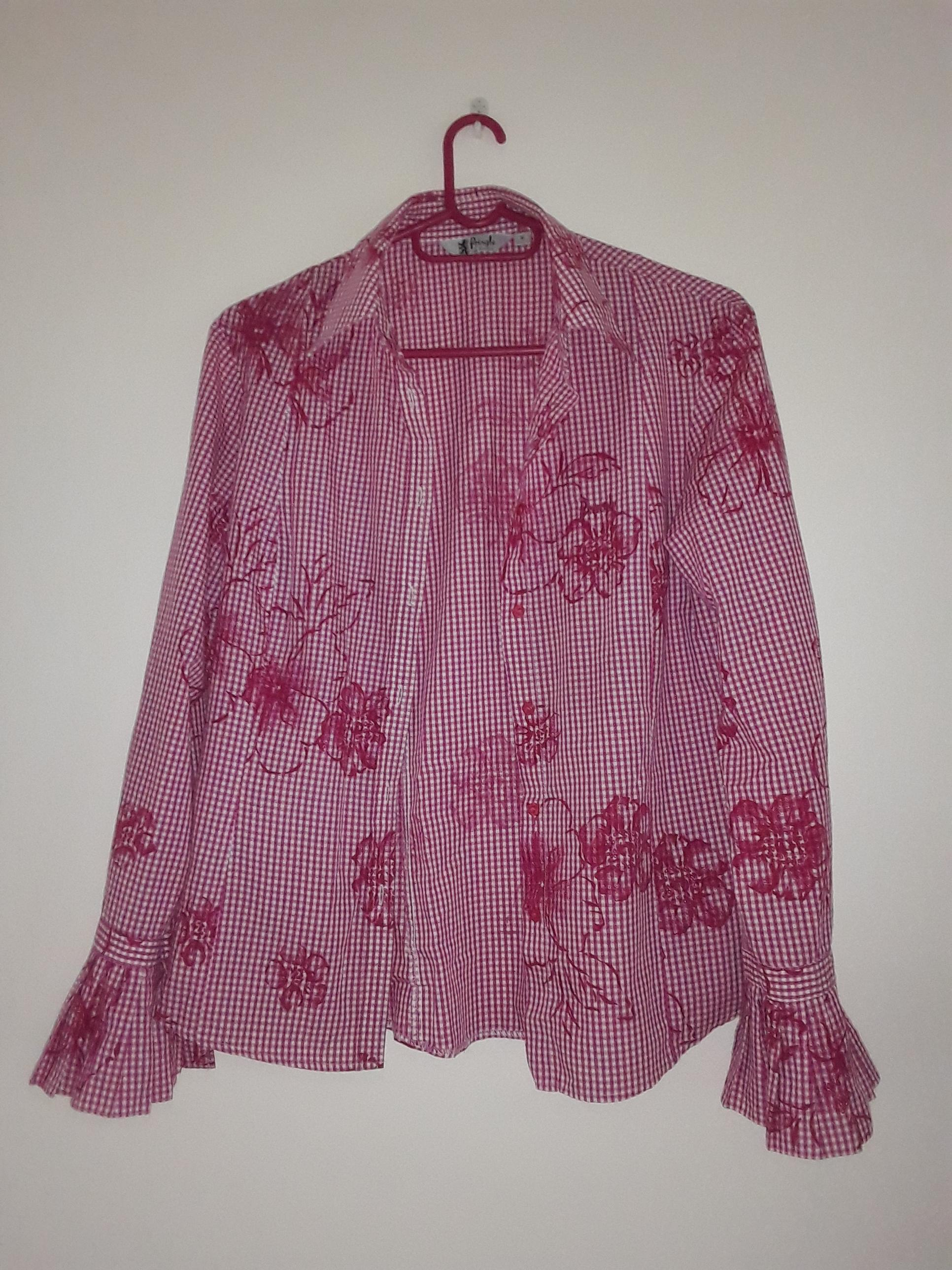 Pringle Maroon Floral Shirt