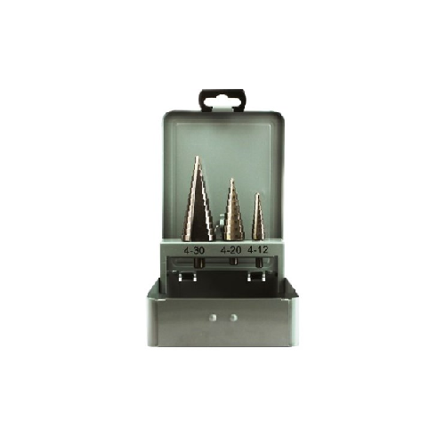FOX HSS STEP DRILL SET 4-30MM 3 PIECE