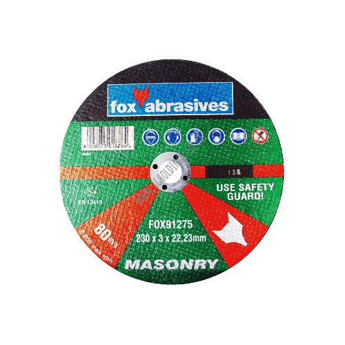 FOX ABRASIVE MASONRY CUTTING WHEEL / DISC