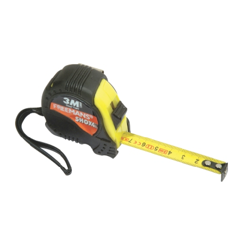 FREEMANS TAPE MEASURE WITH RUBBER GRIP - SHOX