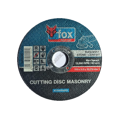 FOX MASONRY CUTTING WHEEL / DISC 115MM