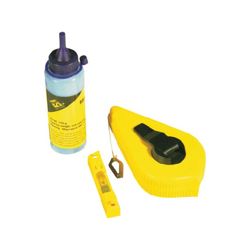 MTS PLASTIC CASE CHALKLINE WITH POWDER & LINE LEVEL