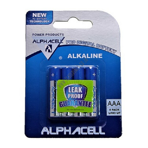 ALPHACELL AAA BATTERIES 4 PACK SI/48