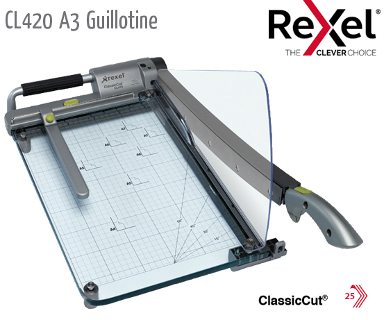 CL420 Guillotine A3 See-Through Base+ Laser