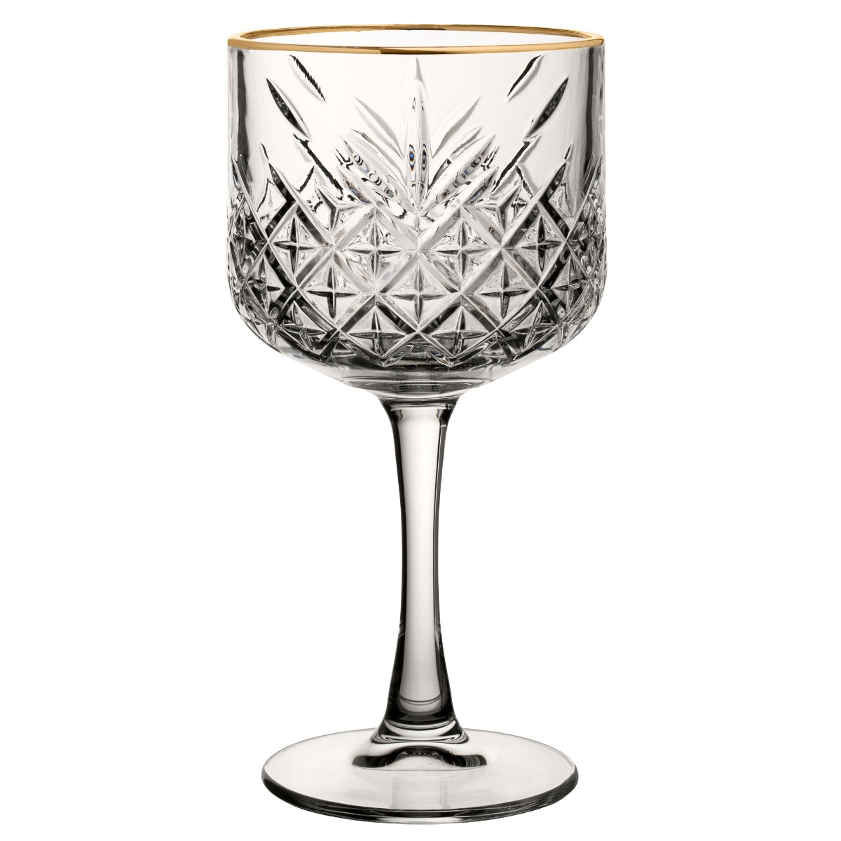 Roaring 20'S Vintage Gin & Tonic Glass - gold rim