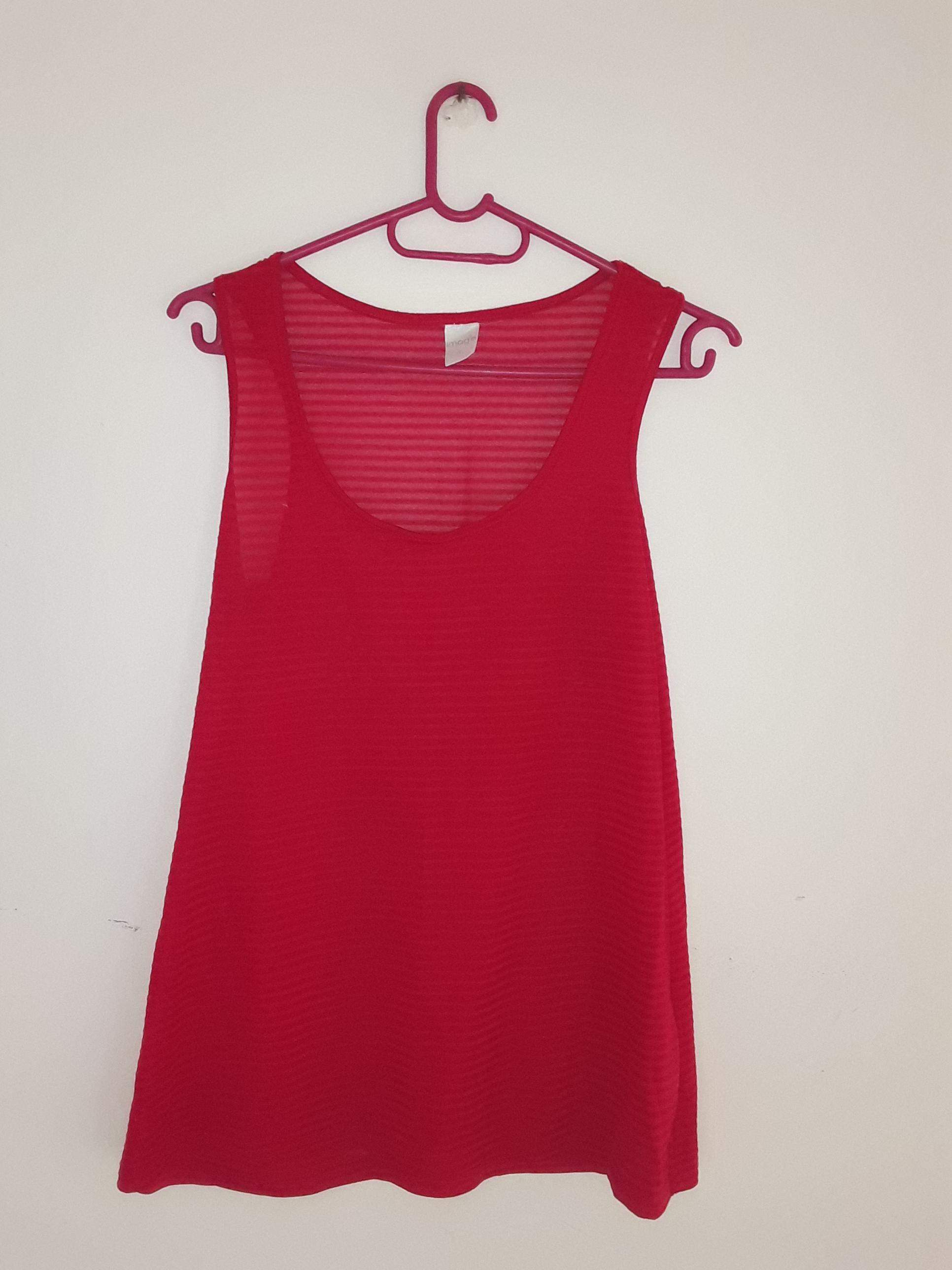 PnP Clothing Red Loose Shirt and Top Combo