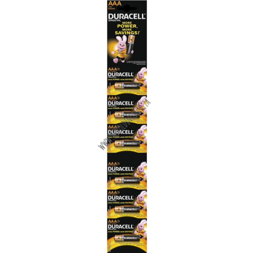 DURACELL MORE POWER AA BATTERY STRIP 6 PACK 16 PER BOX