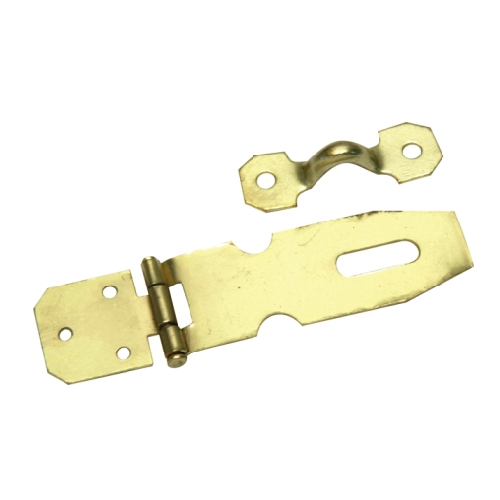 MACKIE BRASS PLATED HASP & STAPLES